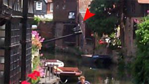 Der \'ducking stool\' in Canterbury